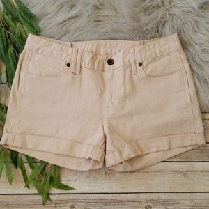 Madewell Color Denim Shorts with Rolled Cuff